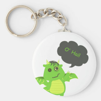 Cute Button Eyed Zombie Dragon Key Chains