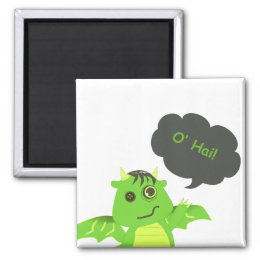 Cute Button Eyed Zombie Dragon Magnet