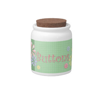 Cute Button Jar Candy Jars