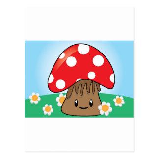Cute Button Mushroom Postcard