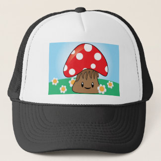 Cute Button Mushroom Trucker Hat