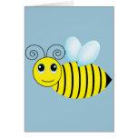 Cute Buzzing Honey Bee Card