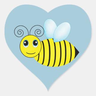 Cute Buzzing Honey Bee Heart Sticker