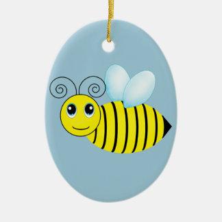 Cute Buzzing Honey Bee Christmas Ornaments