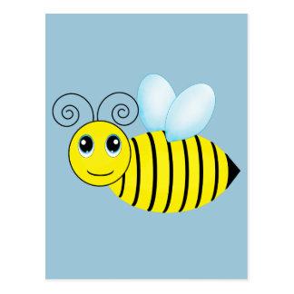 Cute Buzzing Honey Bee Postcard