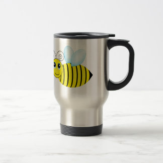 Cute Buzzing Honey Bee Travel Mug