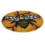Cute Buzzing Yellow Jacket Bee Honeycomb Cutting Boards