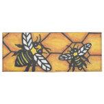 Cute Buzzing Yellow Jacket Bee Honeycomb Tyvek® Billfold Wallet