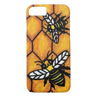 Cute Buzzing Yellow Jacket Bee Honeycomb iPhone 7 Case