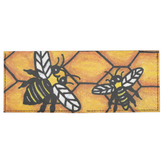 Cute Buzzing Yellow Jacket Bee Honeycomb Tyvek Wallet