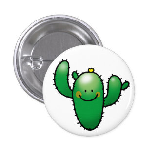 cute cactus button