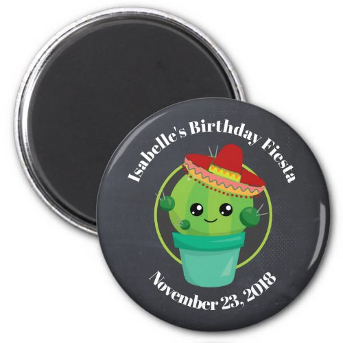 Cute Cactus in a Sombrero Birthday Save the Date Magnet