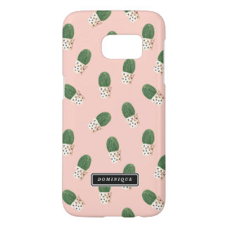 Cute Cactus in Hearts Pots Pattern Personalized Samsung Galaxy S7 Case
