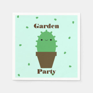 Cute cactus kawaii plant napkins
