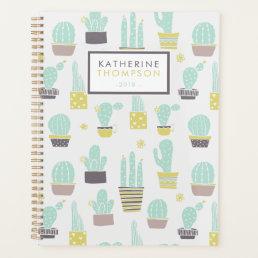 Cute Cactus Pattern Planner