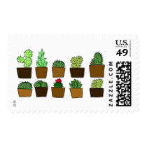 Cute Cactus Postage Stamps