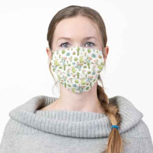 Cute Cactus Standing Pattern Cloth Face Mask