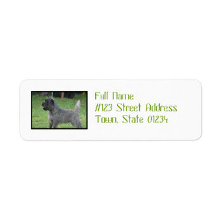 Cute Cairn Terrier Custom Return Address Label
