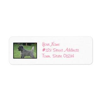 Cute Cairn Terrier Return Address Labels