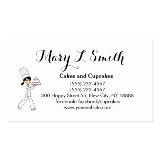 Cute Cake Cupcake Sale Calling Card Double-Sided Standard Business Cards (Pack Of 100)