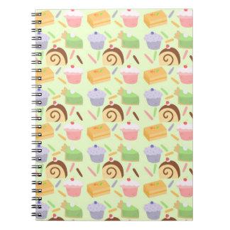 Cute Cake Pattern Notebook