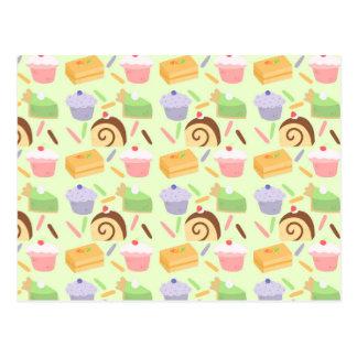 Cute Cake Pattern Postcard