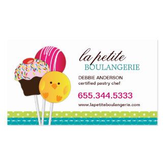 Cute Cake Pop Business Cards