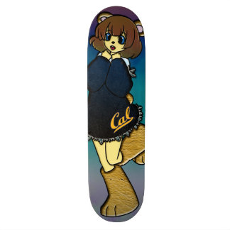 Cute Cal Bear Girl Skateboard Deck