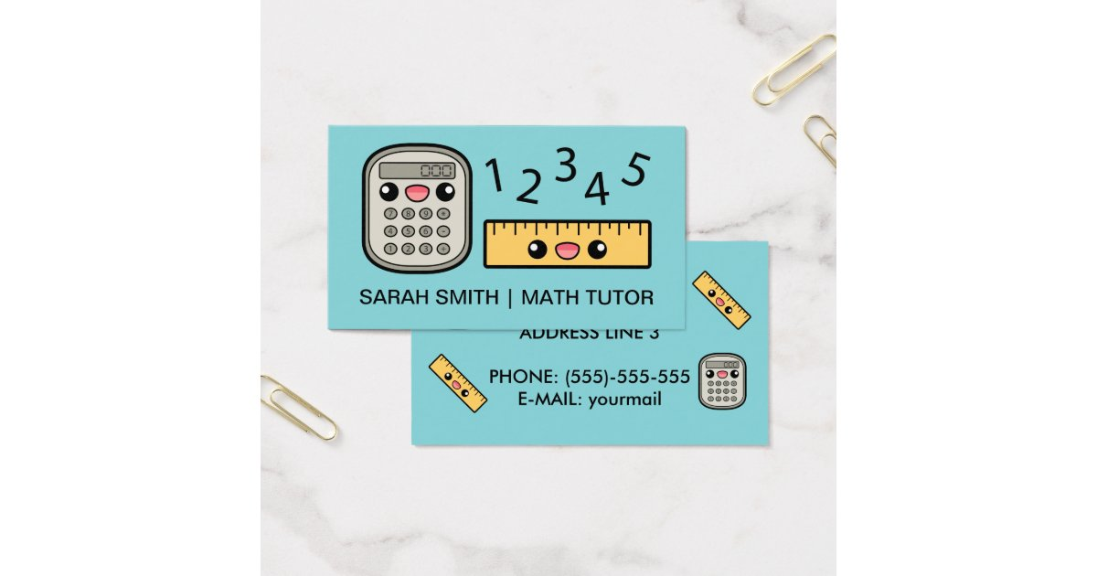 Math Teacher Business Cards & Templates | Zazzle