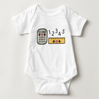 Cute Calculator And Ruler With Numbers Tee Shirt