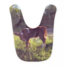 Cute Calf Baby Bib