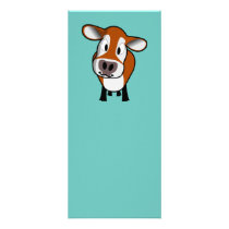 Cute Calf Bookmark Rack Card