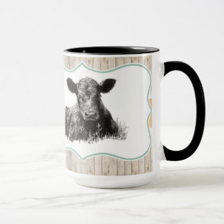 Cute Calf Cow Mug Vintage