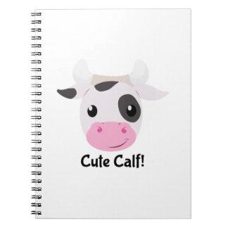 Cute Calf Spiral Notebook