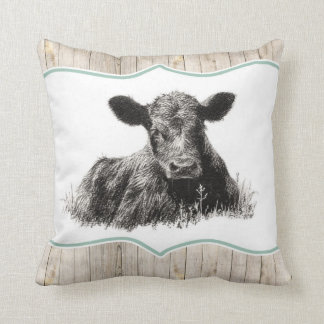 Cute Calf Vintage Pillow