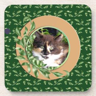 Cute Calico Cat Coaster