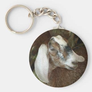 Cute Calico Goat Friend Keychain