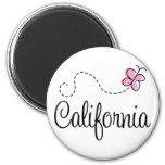Cute California Design 2 Inch Round Magnet