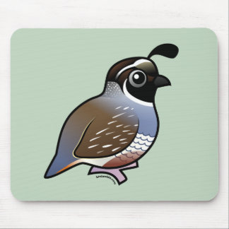 Cute California Quail Mouse Pad