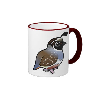Cute California Quail Ringer Mug