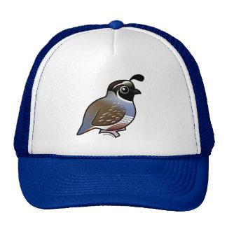 Cute California Quail Trucker Hat