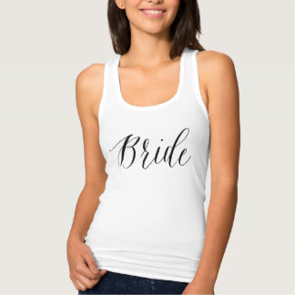 Cute calligraphy bride Tank Top for bachelorette