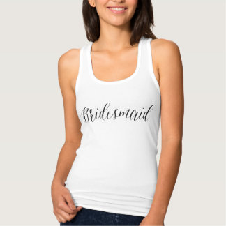 Cute calligraphy bridesmaid Tank Top