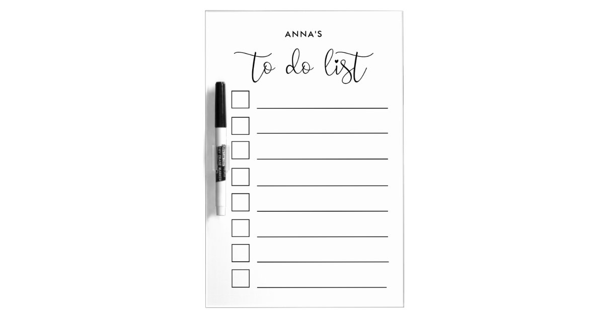cute calligraphy to do list dry erase board