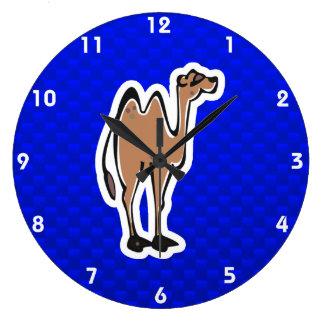 Cute Camel; Blue Large Clock