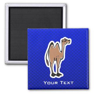 Cute Camel; Blue Refrigerator Magnet