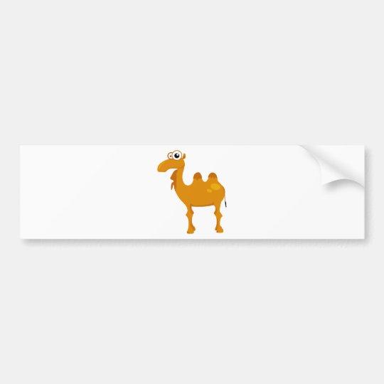 Cute camel bumper sticker