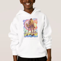 Cute Camel Coming and Going Kids Sweatshirt