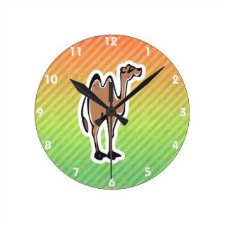Cute Camel Design Round Clock