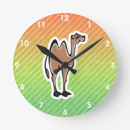 Cute Camel Design Round Clock